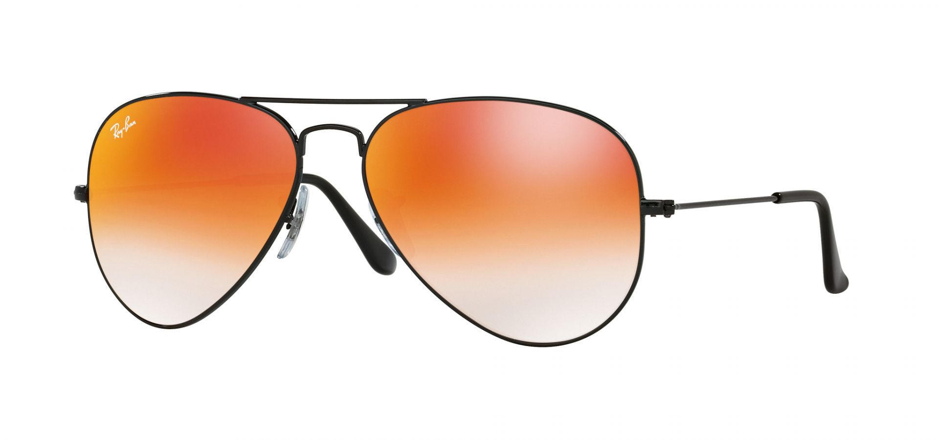Sunčane naočale Ray Ban 0RB3025: Boja: Shiny Black Orange Gradient Flash, Veličina: 58/14/135, Spol: unisex, Materijal: metal