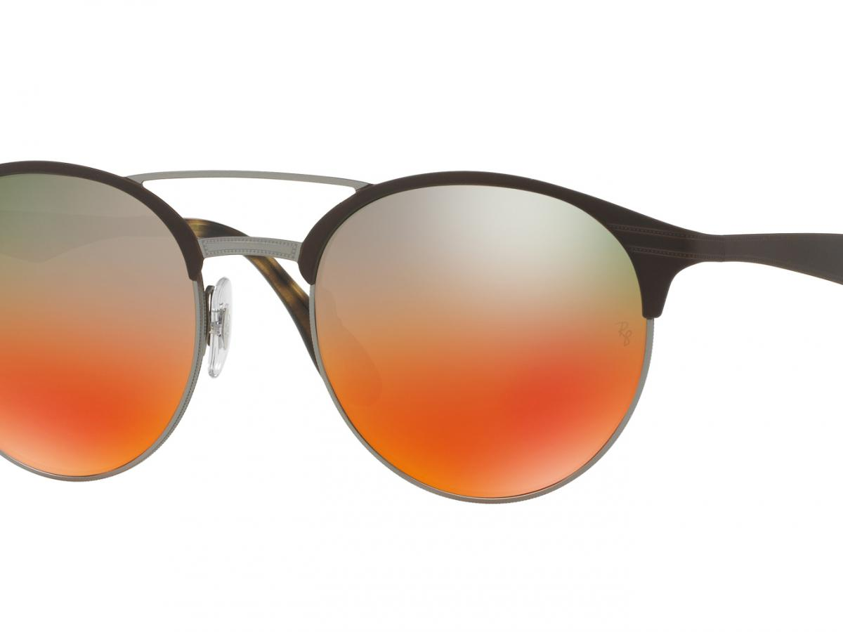 Sunčane naočale Ray Ban DOUBLE BRIDGE RB 3545: Boja: Ruthenium Matte Brown Green Orange Shaded, Veličina: 54/20/145, Spol: unisex, Materijal: metal, Vrsta leće: polarizirane