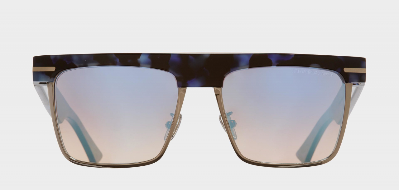 1359-04 MOONDUST BLUE & GUNMETAL SUNGLASSES